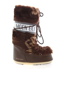 GCDS - Synthetic fur Moon Boot in brown