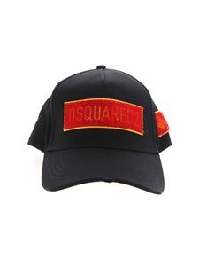Dsquared2 - Logo embroidery hat in black