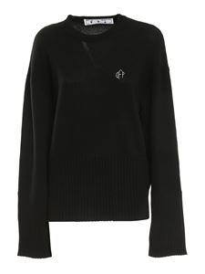 Off-White - Wool and cashmere sweater in black