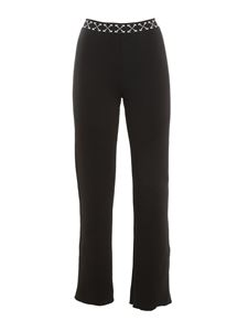 Off-White - Ribbed pants in black