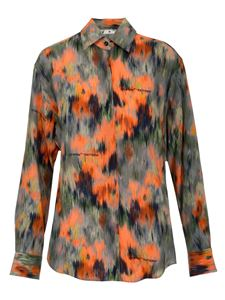 Off-White - Abstract Floral Print shirt in orange
