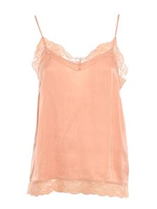 TWINSET - Lace-detailed satin top in pink