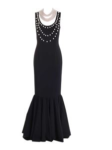Moschino - Pearl detailed dress in black