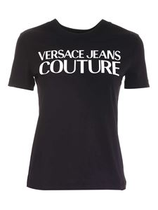 Versace Jeans Couture - Lettering print t-shirt in black