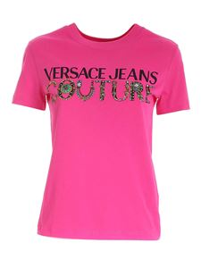 Versace Jeans Couture - Logo T-shirt in fucshia