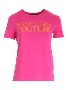 Versace Jeans Couture - Lettering logo t-shirt in fucshia