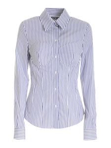 Moschino - Striped shirt in white and blue