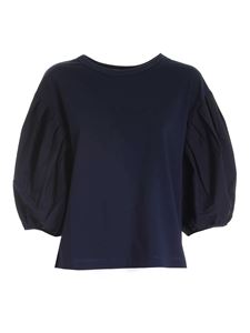 See by Chloé - Top con maniche a palloncino color Ink Navy