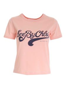 See by Chloé - T-shirt logo color Perfect Peach