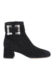 Sergio Rossi - Prince suede ankle boots in black