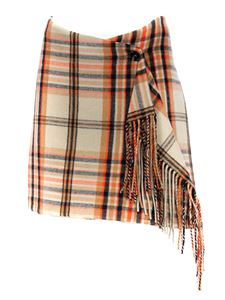 MSGM - Check skirt in beige