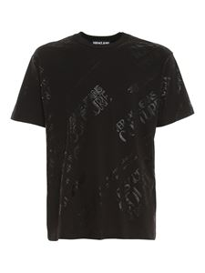 Versace Jeans Couture - T-shirt in cotone con stampa logo nera