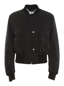Off-White - Tech fabric bomber jacket in black