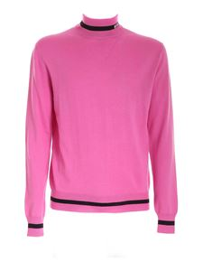 MSGM - High neck branded sweater in pink