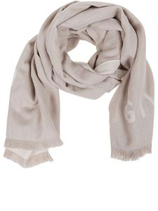 Givenchy - 4G jacquard scarf in beige colour