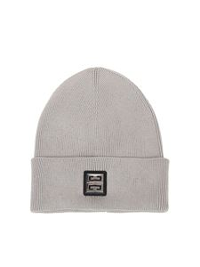 Givenchy - Ribbed beanie in gray