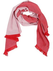 Givenchy - 4G jacquard scarf in red