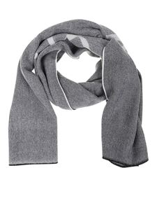 Givenchy - Patterned scarf in gray