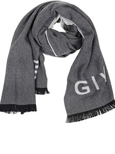 Givenchy - 4G jacquard scarf in gray