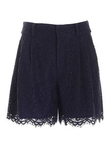 Red Valentino - Lace shorts in blue