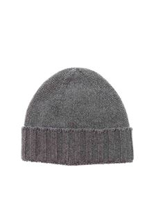Paolo Fiorillo - Turned-up beanie in grey