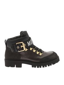 Moschino - Branded combat boots in black