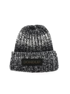 Dondup - Knitted hat in black and gray