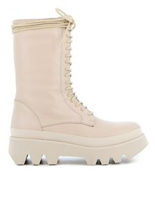 Paloma Barceló - Helsa combat boots in ivory color