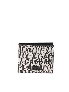 Dolce & Gabbana - Dauphine wallet in black and white