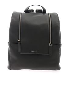 Orciani - Micron leather backpack in black