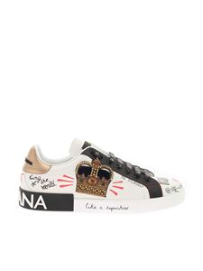 Dolce & Gabbana - King printed sneakers in white