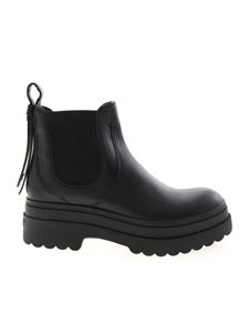 Red V - Chelsea ankle boots in black