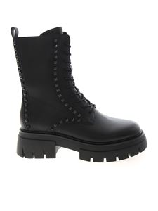 Ash - Liam Studs ankle boots in black