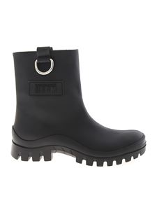 MSGM - Rubberized ankle boots in black