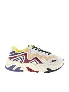 MSGM - Multicolor synthetic leather sneakers