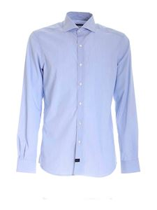 Fay - Micro-striped shirt in light blue