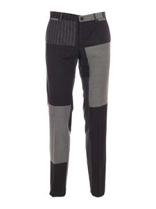 Dolce & Gabbana - Patchwork pants in shades of grey