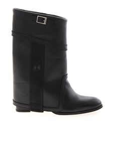 Bruno Bordese - Turned-up shaft ankle boots in black