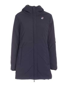 K-Way - Sophie reversible jacket in blue and green