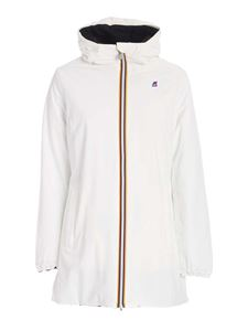 K-Way - Sophie reversible jacket in white and black