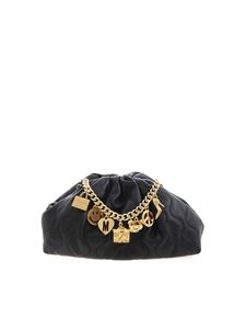 Moschino - Moschino Charms clutch bag in black