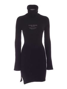 GCDS - Knitted sheath dress in anthracite