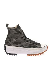 Converse - Run Star Hike sneakers in camouflage gray
