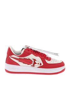 Enterprise Japan - Rocket Low sneakers in white and red