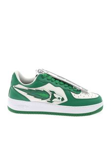 Enterprise Japan - Rocket Low sneakers in white and green