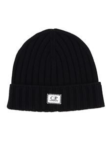 CP Company - Ribbed beanie in black