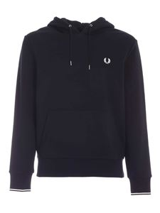 Fred Perry - Tipped hoodie in black