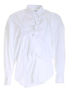 Comme Des Garçons Shirt  - All Over Hitched shirt in white