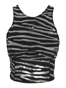 Adidas by Stella McCartney - Printed top in black and silver color