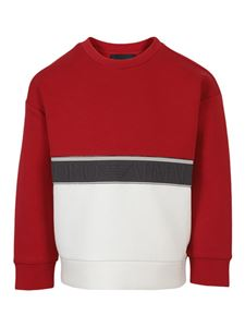 Emporio Armani - Two-tone sweatshirt in red and white